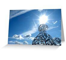 Modern Sculpture Greeting Card
