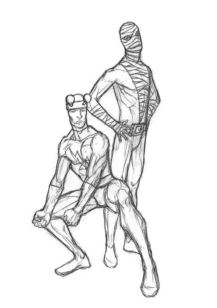Doom Patrol sketch by Michael Lee
