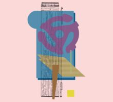 purple vinyl adapter collage by Phillip J. Mellen