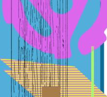 purple vinyl adapter collage Sticker
