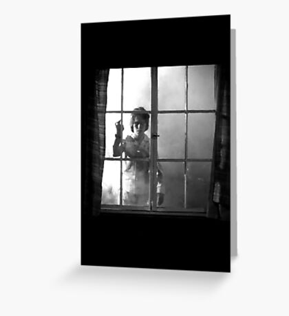 Salems Lot Floaty Window Creepy Kid. Greeting Card