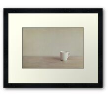 Go quietly Framed Print