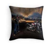 Riders of the storm III Throw Pillow