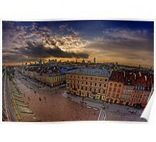 Warsaw - Sunset Over The City Poster