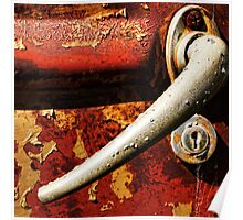 Rusted door handle macro style Poster