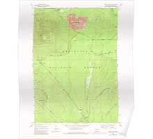 USGS Topo Map Oregon Odell Butte 280961 1967 24000 Poster