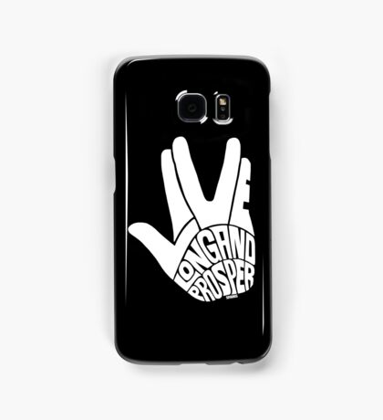 Live Long and Prosper White Samsung Galaxy Case/Skin
