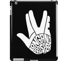 Live Long and Prosper White iPad Case/Skin