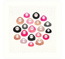 A bunch of happy blobs Art Print