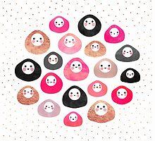 A bunch of happy blobs by Elisabeth Fredriksson