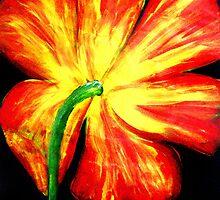 Orange Yellow Tulip #1 by Amy Bettison