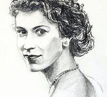 Queen Elizabeth II by Francesca Romana Brogani