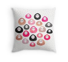 A bunch of happy blobs Throw Pillow