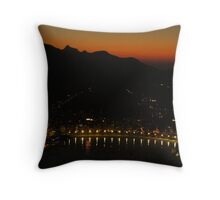 Red Skies with Christ the Redeemer Throw Pillow