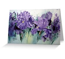 Wacky-Iris Greeting Card