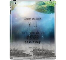 Matthew 24:35 iPad Case/Skin