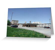 Omaha - Nebraska, Amtrak RR Station Greeting Card