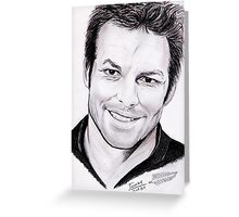 Richie McCaw portrait Greeting Card