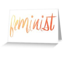 Feminist Typography 1 Greeting Card