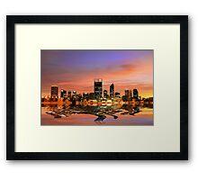 Perth City, Western Australia Framed Print