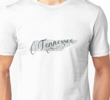 Tennessee State Typography Unisex T-Shirt