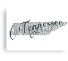 Tennessee State Typography Canvas Print