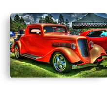 Dicey Red Classic Canvas Print