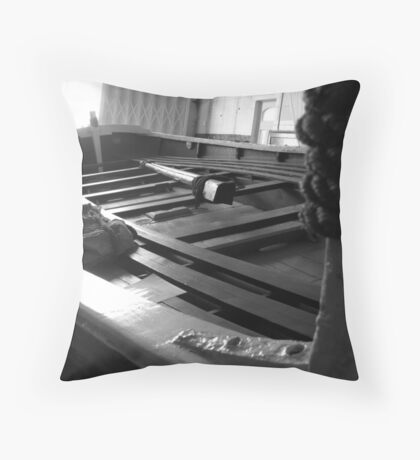 Old Lifeboat Throw Pillow