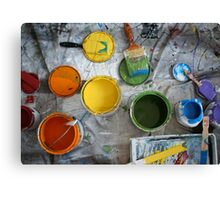 Many Paints Canvas Print