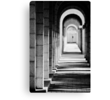 light and shadows in tunnel Canvas Print