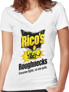 Rico's Roughnecks Women's Fitted V-Neck T-Shirt