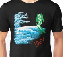 Edgy Skiing Halftone Astronaut Unisex T-Shirt