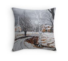 Stone Bridge Crossing Throw Pillow