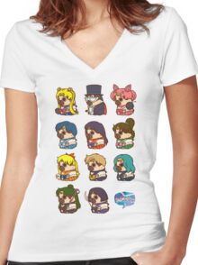 Pretty Soldier Sailor Puglie Women's Fitted V-Neck T-Shirt