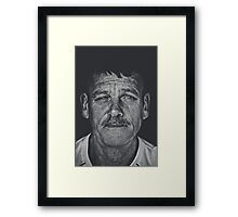 I was just tired of losing... Life was passing me by Framed Print