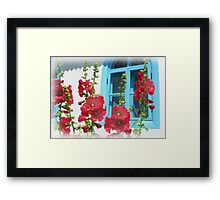 Colors of the rural old home Framed Print