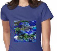 Lions of the Deep - a Surreal, Oceanic Drawing Womens Fitted T-Shirt