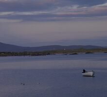 White Boat  Sunset- Burtonport - Donegal -  Ireland by mikequigley