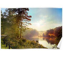 Sunset on Kerr Scott Reservoir Poster