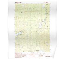 USGS Topo Map Oregon Black Butte 279053 1988 24000 Poster