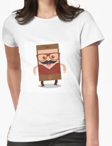 Mobile phone character  Womens Fitted T-Shirt