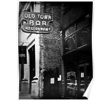 Old Town Bar Poster