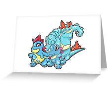 Johto- Water Starter Evo Set Greeting Card