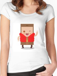 Mobile phone character Women's Fitted Scoop T-Shirt