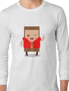 Mobile phone character Long Sleeve T-Shirt