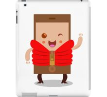 Mobile phone character iPad Case/Skin