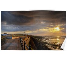 Stormy Sky Sunset - Reculver Poster