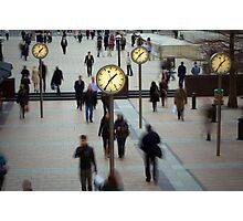Financial time Photographic Print