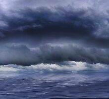 Massive storm front approching the West Australian coast by Marc Russo