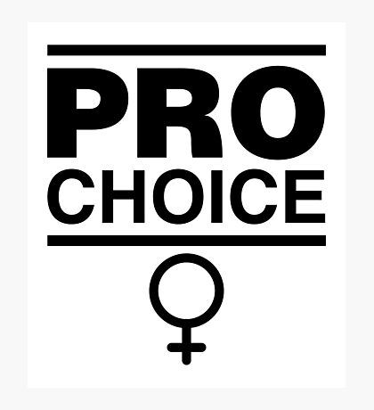 Pro-Choice Feminist Shirt Design Photographic Print